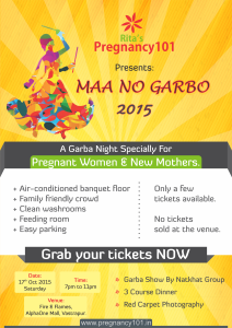 Garba Night Pregnant Women Ahmedabad Poster