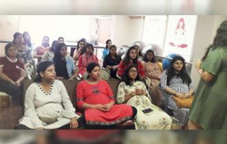 Skincare session in Surat @Rita's Pregnancy 101